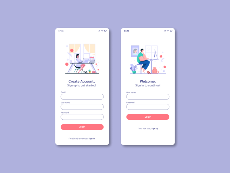 Sign Up sign up mobile ui daily ui challenge daily ui 001 daily ui