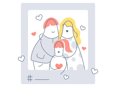 Family:) post social media instagram photography people blog stay safe stay home photo family graphic design outline line art cartoon happy line funny character design illustration