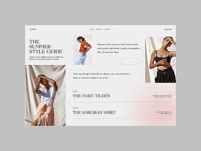 Blogging - Article website web landing page design design content blogging blog page design article ui design ui