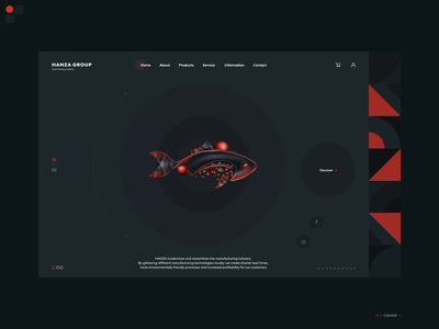 Red Caviar - Hanza Group portfolio project web collaboration illustration landing page design interaction design ui design ui group hanza red caviar fish
