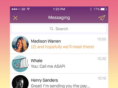 New UI Set ios purple messaging ui-ux