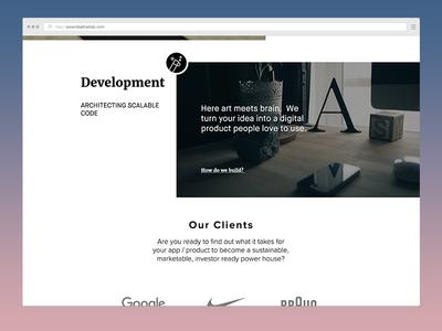 Homepage for a Creative Agency icons mockup ux ui design portfolio web-design landing-page homepage
