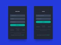 Register & Login Screens