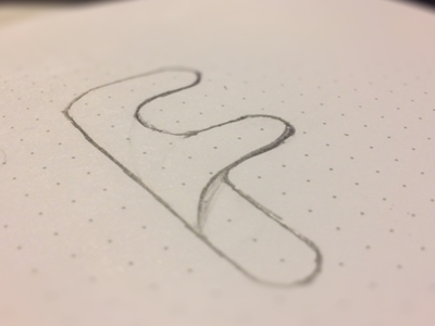F for... f character letter logo-draft sketch logo-type