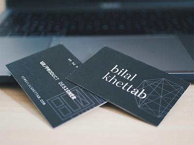 Business Cards mono serif geometry lines business-cards brand design print
