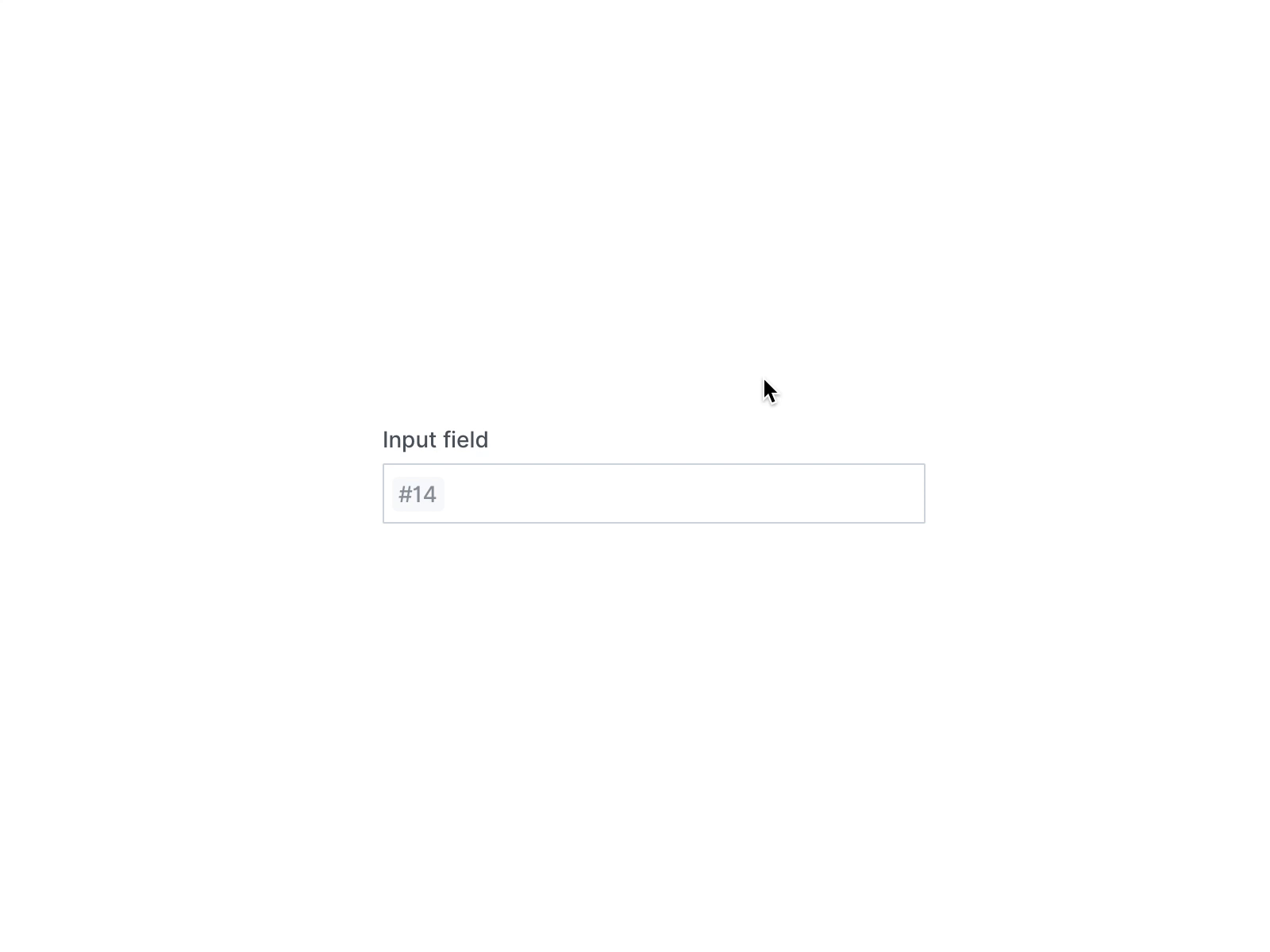 Hover input field