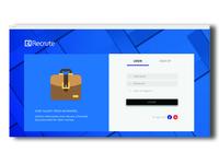Recrute Web App UI Design