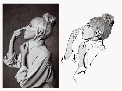 Lady Gaga portrait vector illustration
