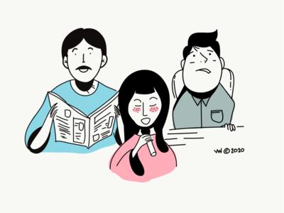 Doodle portrait illustration