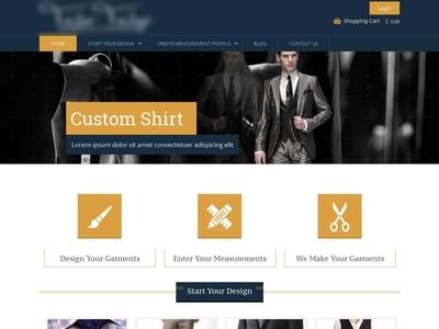 Tailor Store - eCommerce Web Development