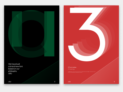 "Couple of posters for my ""XBU"" font type"