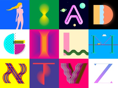 36 days of type typogaphy illustration vector design