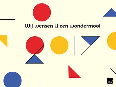 E-card Klara card branding illustration vector design