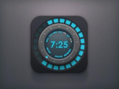 Alarm app icon ui wheel knob time snooze icon psd free clock alarm