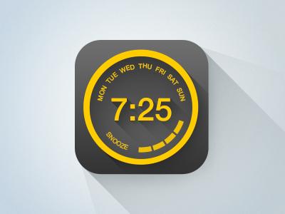 Flat version  wheel knob time snooze icon clock alarm
