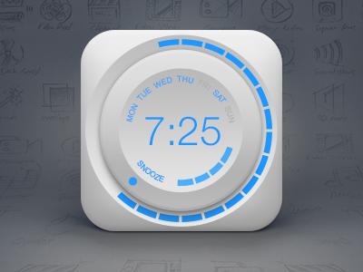 Icon of Alarm, Clock, Knob, Wheel ui wheel knob time snooze icon psd free clock alarm
