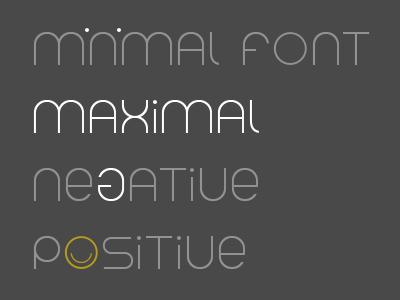 Minimal logo, simple font simple positive minimal logo font