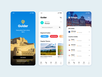 Guide app design