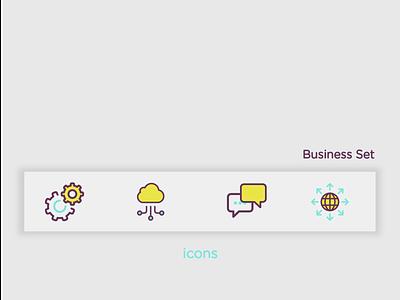 Icons Set app illustration icon vector design