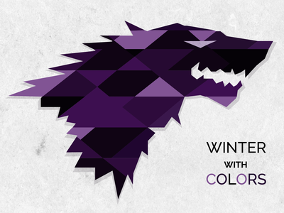 Winter With Colors illustration design vector game of thrones