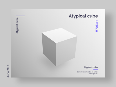 Atypical cube vector design
