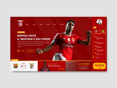 Sport Lisboa e Benfica - UI Re-design