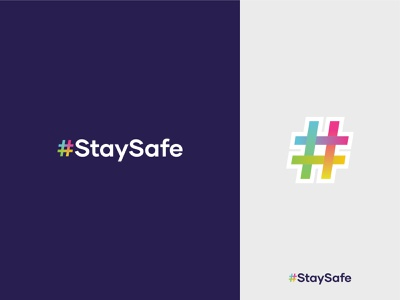 #StaySafe sticker clean staysafe people health positive vibes safety stayhome stay safe balance hashtag minimalist flat modern connection colorful interaction logo designer dynamic effect geometric art logo design