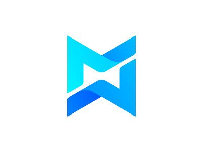 MotorMarket blue gradient logo designer for hire branding and identity typography art letter m logo monogram letter mark motor market concept logo design minimalist flat modern