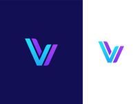 Letter V + Check mark