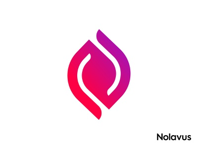 Nolavus abstract art dynamic effect geometric art minimalist flat modern logomark monogram letter mark letter n gradient design fire flame logo connected connection connect smart icon colorful app branding agency brand and identity lettering letters people working cooperatively logo designer collaboration balance