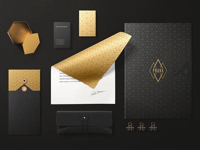PRAVA — Brand Identity Design stationary premium diamond logo design ux ui branding