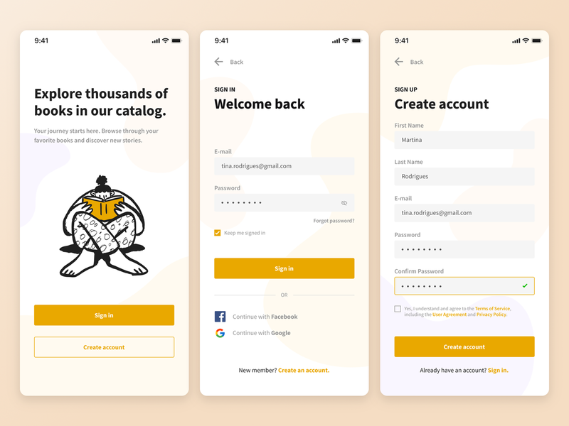Daily UI #001 - Sign Up signup ux mobile 001 dailyui ui app