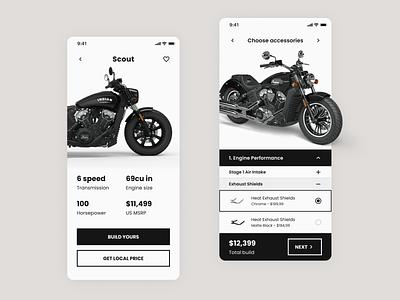 Motorcycle Store App shop store bike motorcycle design ui app