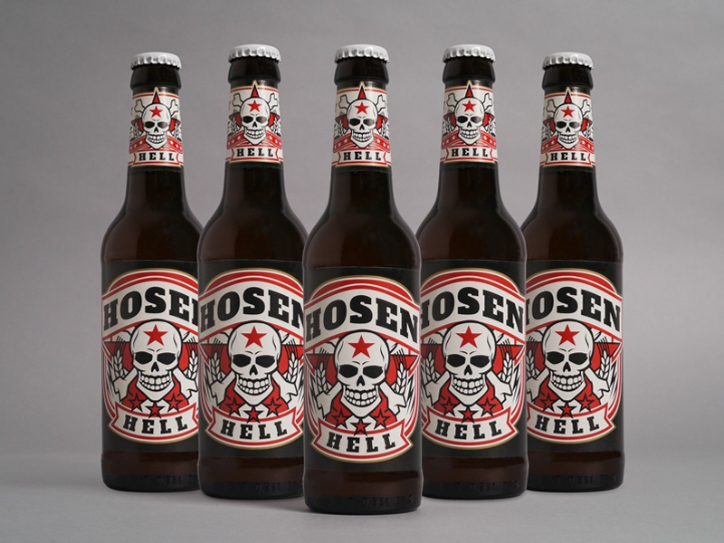 Hosen Hell beerlabel design illustration label beer craftbeer