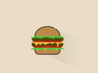 Hamburger flat design