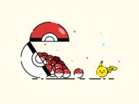 Pikachu flat illustration