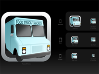 Food Truck Tracker Icon