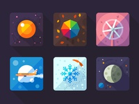 Weather flat icon