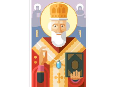 Saint Nicholas icon nicholas miracle religion flat prayer good orthodoxy