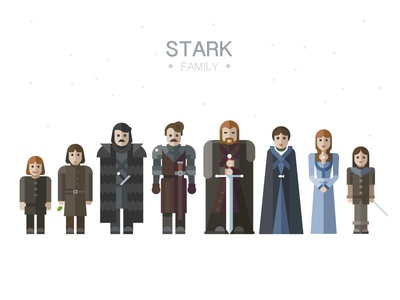 Stark family thrones of stark game thron film series people character child sword weapon
