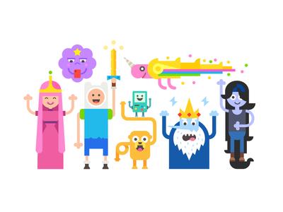 Finally i started watching :) game cartoon love adventure time girl sword boy unicorn