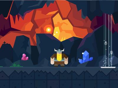 Cave cave meneral game tiles sprite man jewelry mushrooms light fire gui