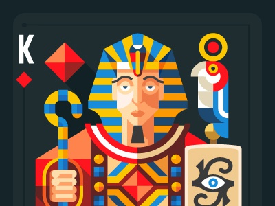 Four civilization, playing cards - Egypt Pharaoh