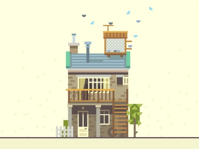 Townhouse - S townhouse house home birds flat