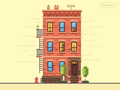 Townhouse - M flat birds home house townhouse ny usa love kill