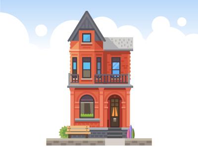 House consturctor set villa flat house