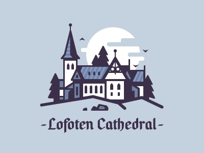 The Lofoten Cathedral landscape castle calm lines flat soul faith cathedral church north norway