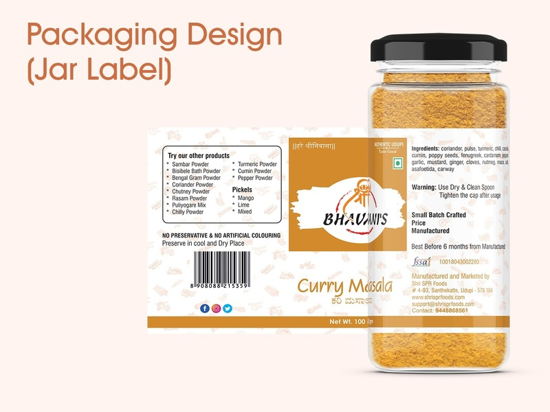 Packaging Design (Client Project - Jar Label)
