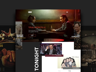 HBO - Responsive Website design got detective true series interface ux ui mobile web concept hbo