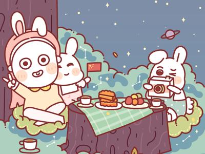 the Mid-Autumn illustrations